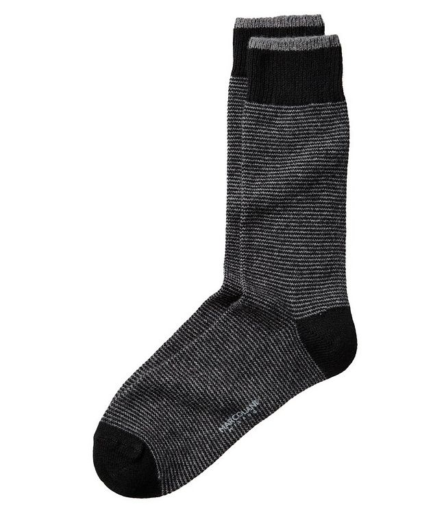 Striped Cashmere-Blend Socks picture 1