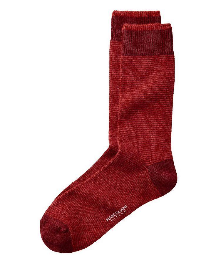 Striped Cashmere-Blend Socks image 0