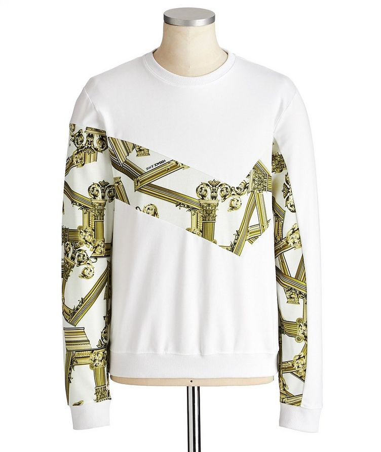Printed Stretch Cotton Sweatshirt image 0