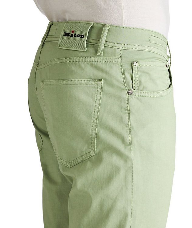 Slim Fit Stretch Cotton-Silk Pants picture 2