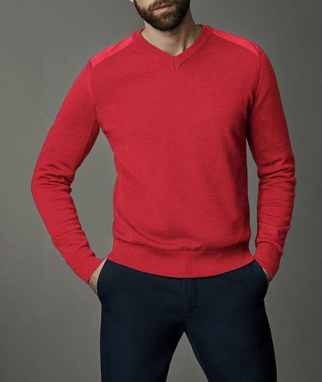 McLeod V-Neck Merino Wool Sweater picture 2