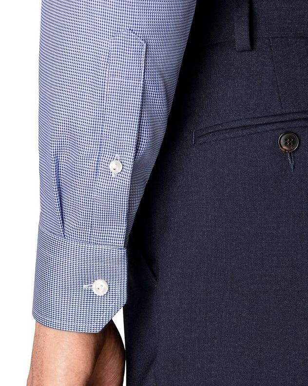 Slim Fit Houndstooth Dress Shirt picture 4