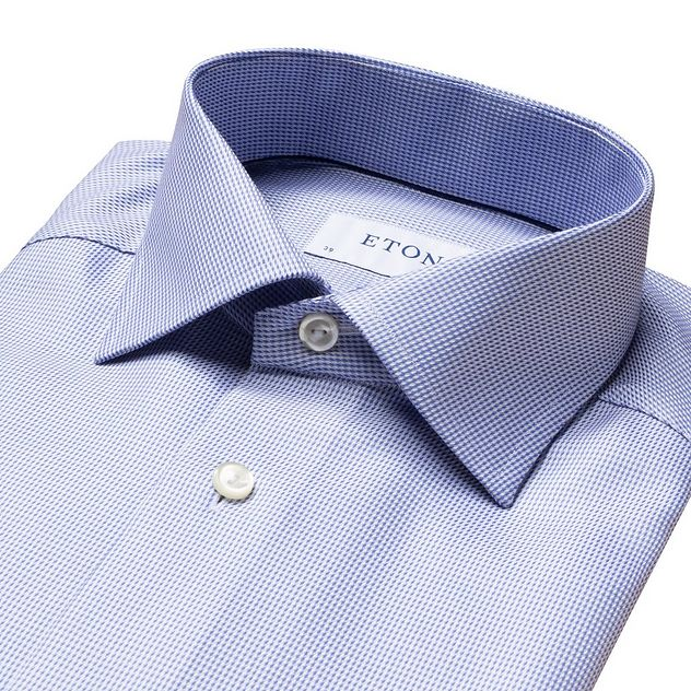 Slim Fit Houndstooth Dress Shirt picture 5