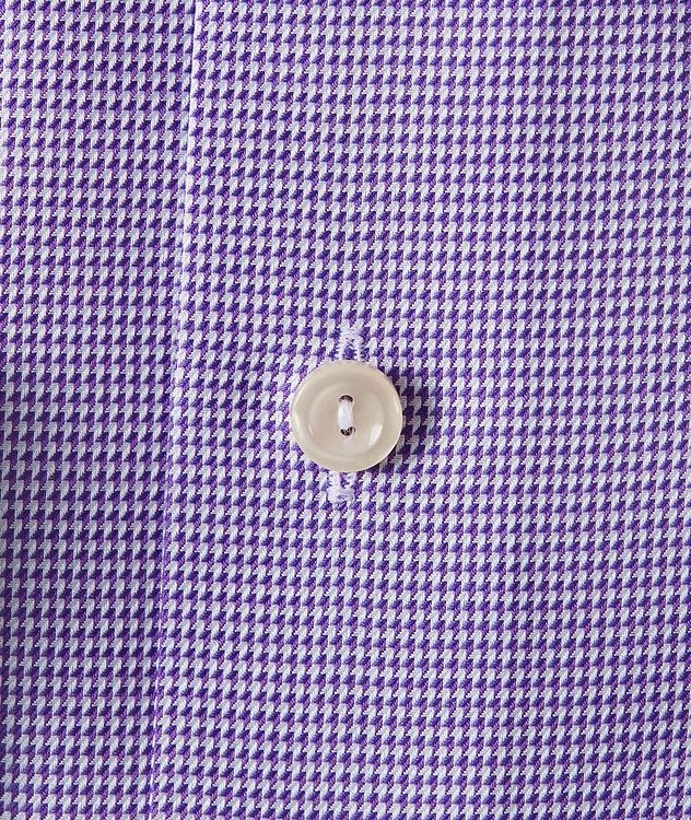 Slim Fit Houndstooth Dress Shirt picture 3