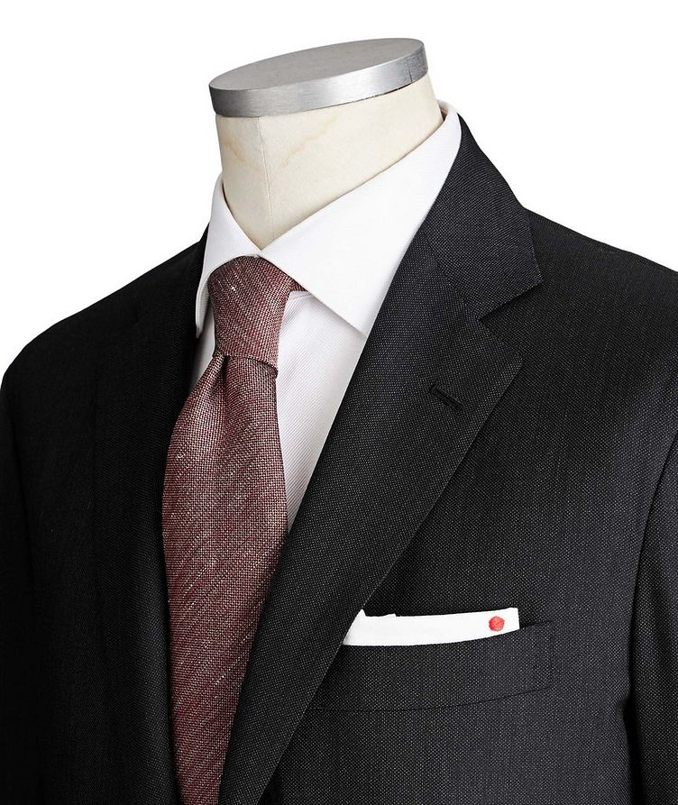 Contemporary Fit Bird's Eye Suit image 1