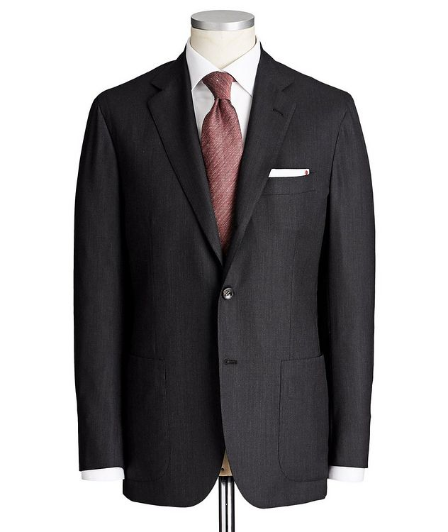 Contemporary Fit Bird's Eye Suit picture 1