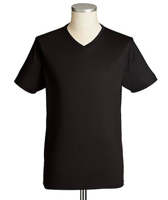 Patrick Assaraf V-Neck Silk-Cotton T-Shirt