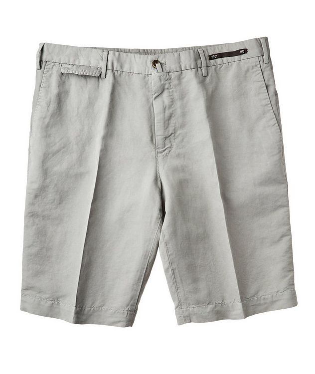 Linen-Cotton Bermuda Shorts picture 1