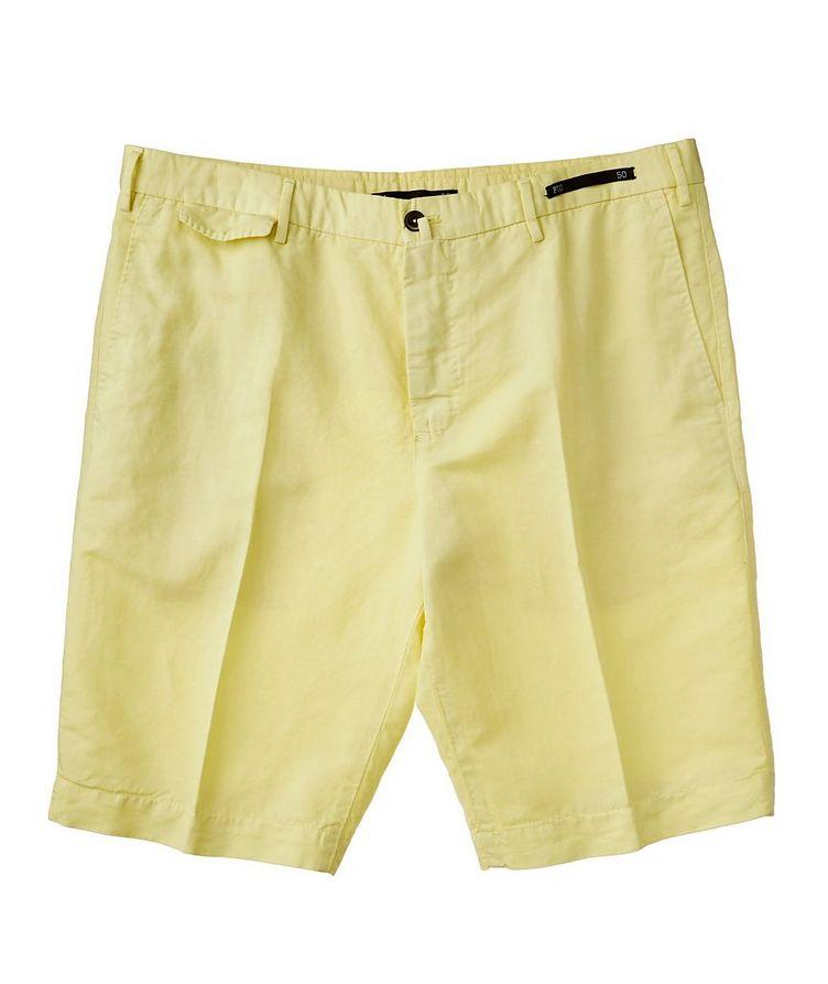 Linen-Cotton Bermuda Shorts image 0