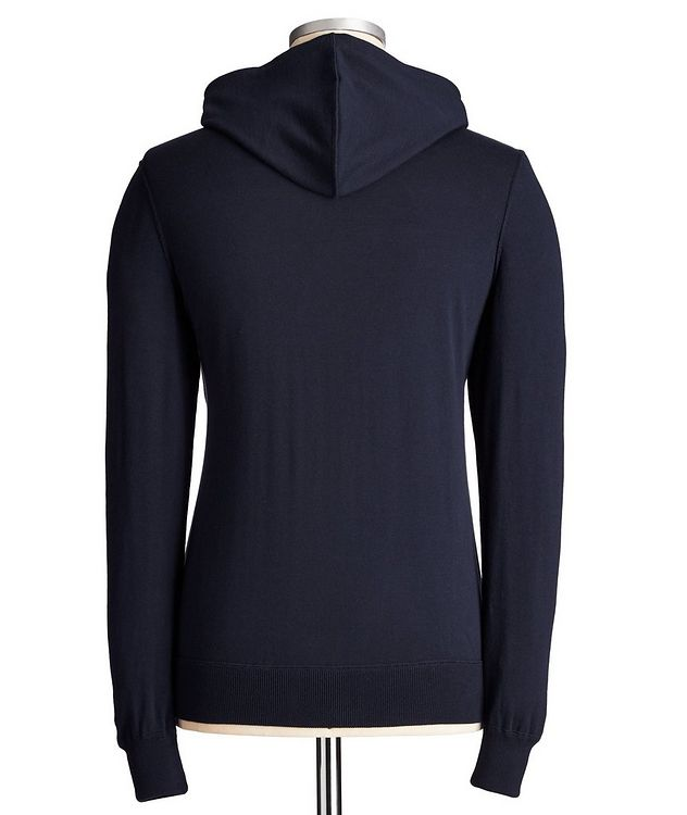 Zip-Up Knit Cotton Hoodie picture 3