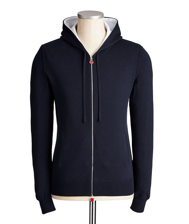 Zip-Up Knit Cotton Hoodie picture 1