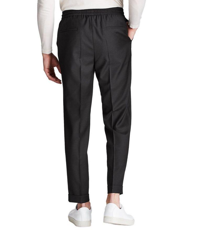 Pantalon habillé à taille à cordon, modèle Oliwer image 1