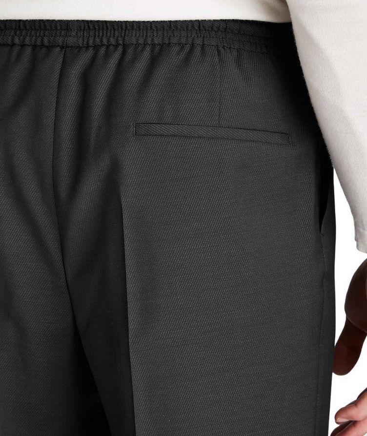 Pantalon habillé à taille à cordon, modèle Oliwer image 2