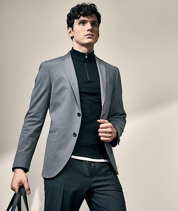 Pantalon habillé à taille à cordon, modèle Oliwer image 3