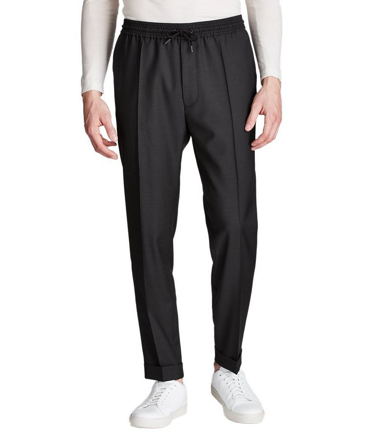 Pantalon habillé à taille à cordon, modèle Oliwer image 0