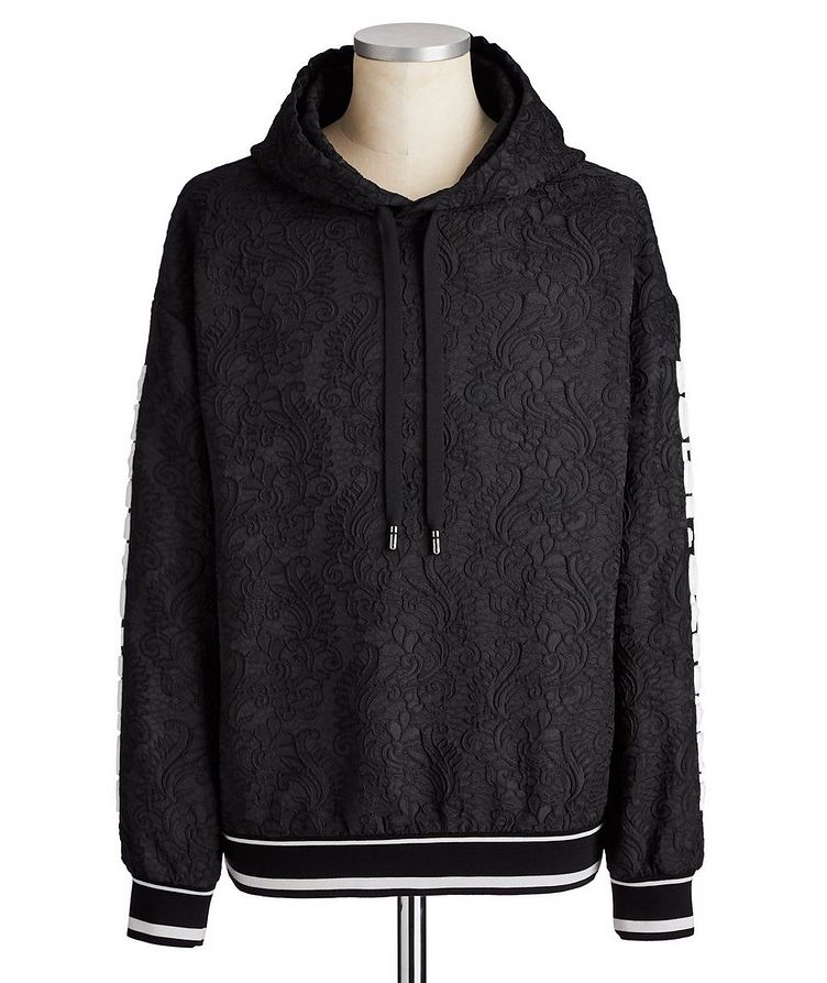Embroidered Drawstring Hoodie image 0