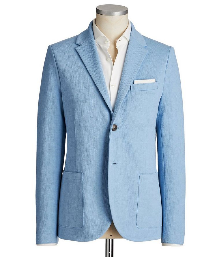 Unstructured Stretch Cotton Sports Jacket image 0