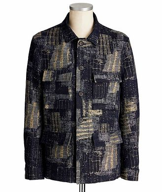John Varvatos Collection Embroidered Field Jacket
