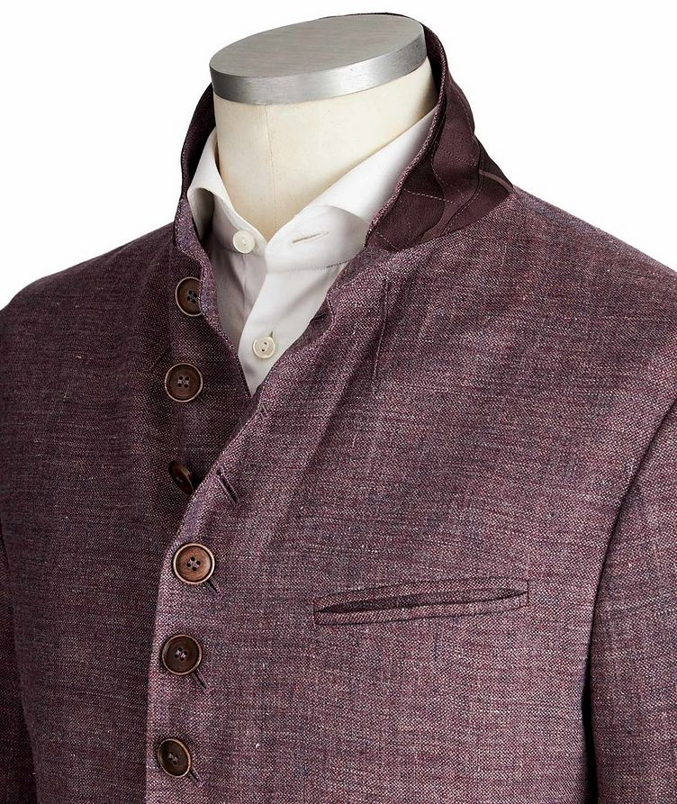 Unstructured Linen Sports Jacket image 1