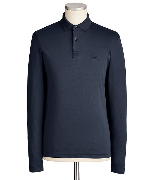 Polo en coton à manches longues picture 1