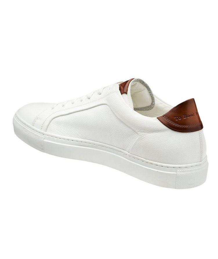 Chaussure sport en cuir texturé image 1