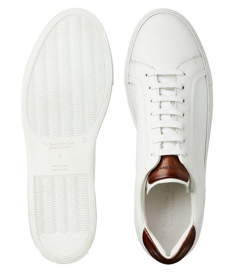 Chaussure sport en cuir texturé image 2