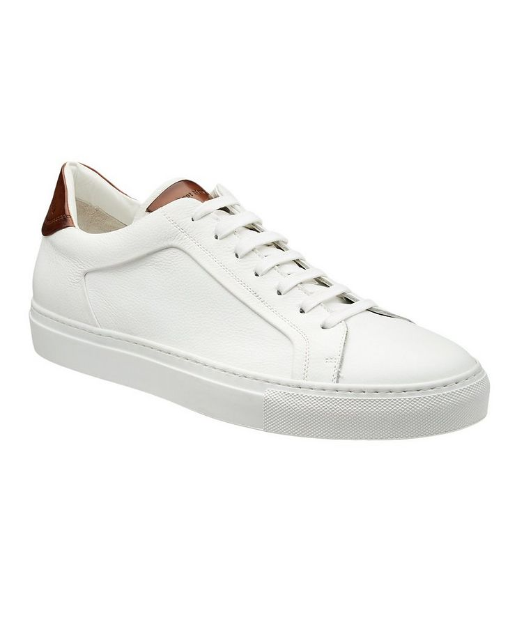 Soft Tumbled Leather Low-Tops image 0