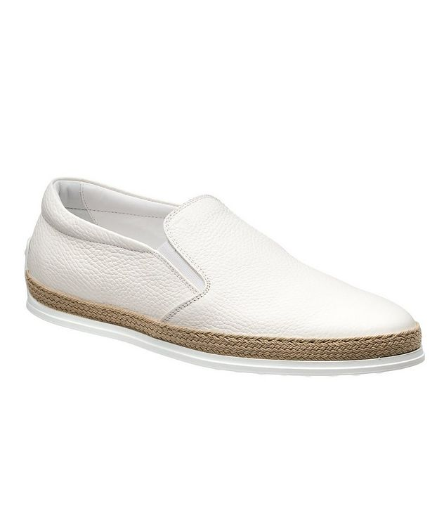 Elk Leather Espadrille Slip-Ons picture 1