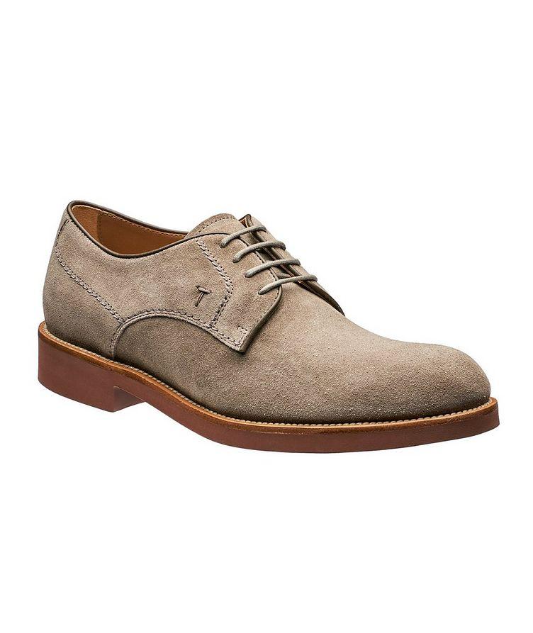 Chaussure lacée en suède image 0