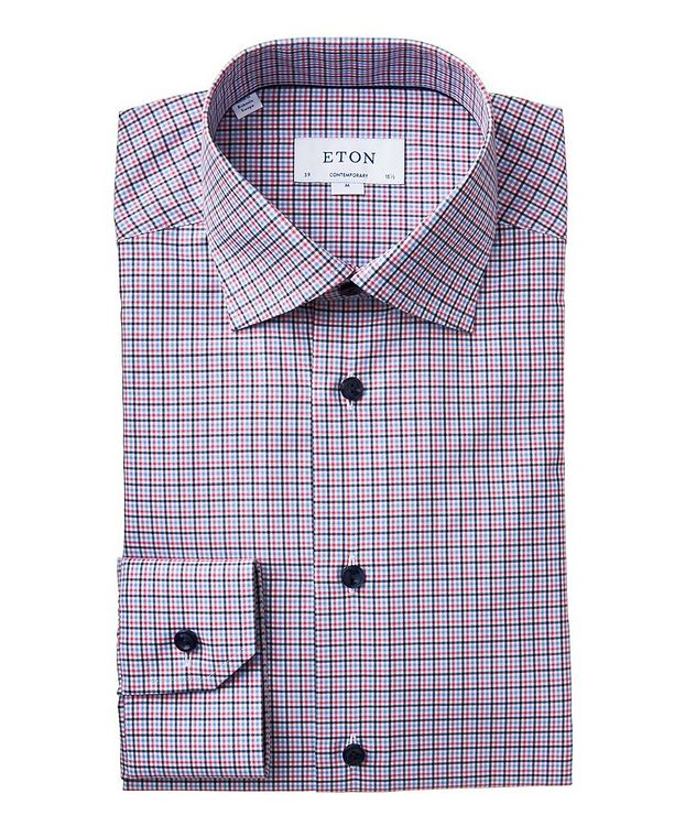 Contemporary Fit Checked Cotton Dress Shirt picture 1