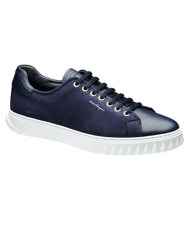 Nubuck Low-Top Sneakers picture 1