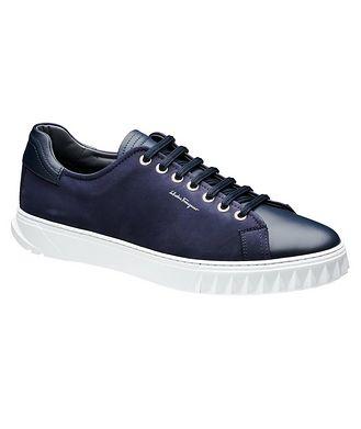 Salvatore Ferragamo Nubuck Low-Top Sneakers
