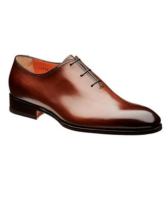 Santoni Whole-Cut Leather Oxfords