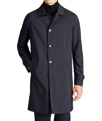 Loro Piana Reversible Green Storm System® Raincoat
