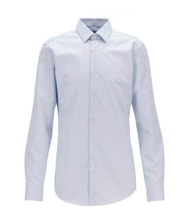 Slim Fit Bird's eye Travel Dress Shirt picture 2