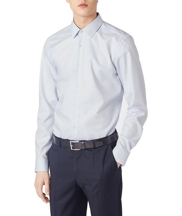 Slim Fit Bird's eye Travel Dress Shirt picture 4