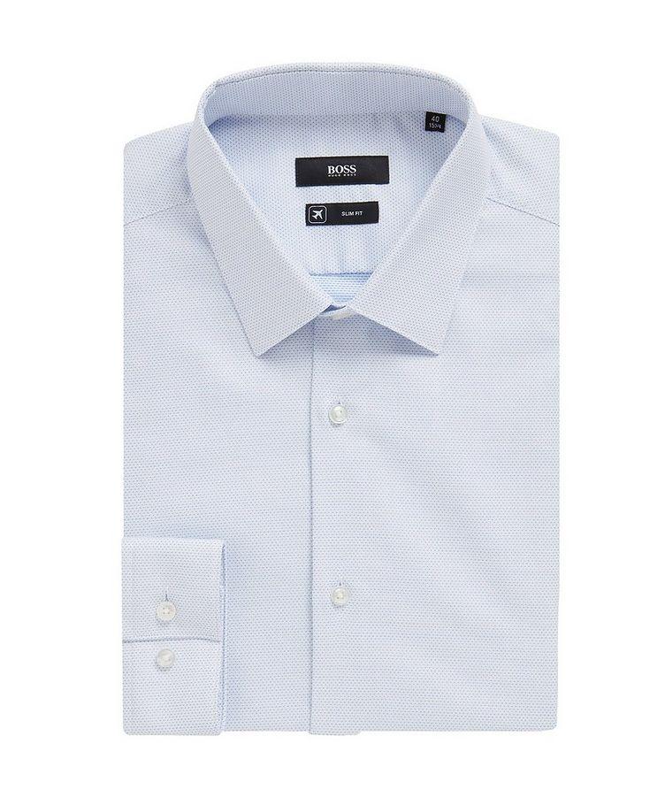 Slim Fit Bird's eye Travel Dress Shirt image 0