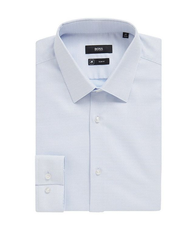 Slim Fit Bird's eye Travel Dress Shirt picture 1