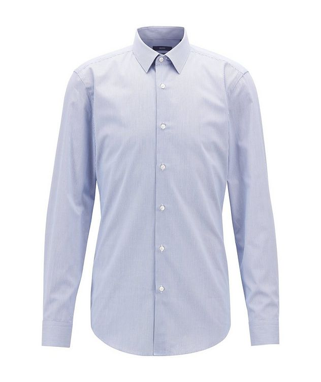 Slim Fit Striped Travel Dress Shirt picture 2