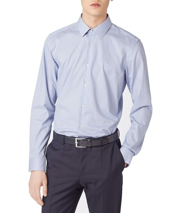 Slim Fit Striped Travel Dress Shirt picture 4