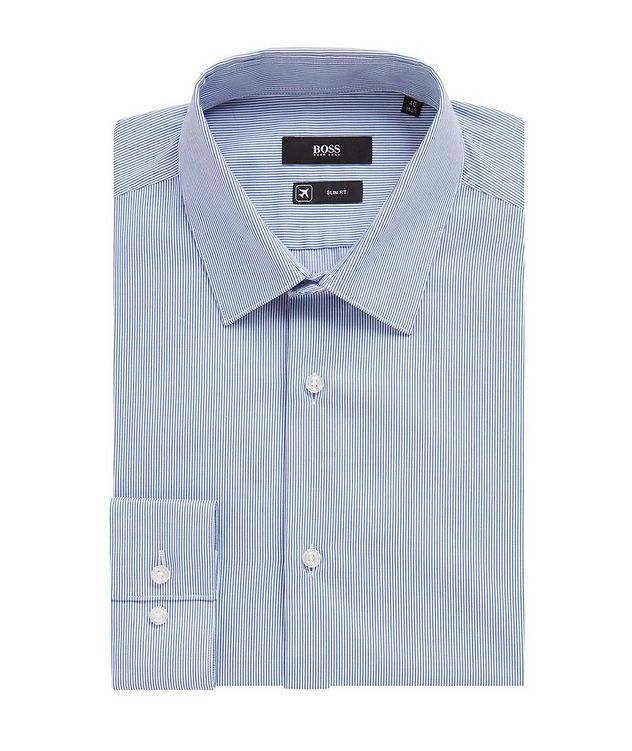 Slim Fit Striped Travel Dress Shirt picture 1
