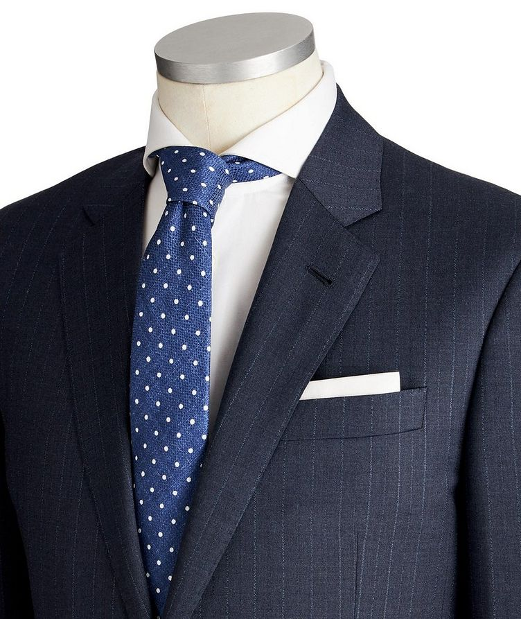 Soft Pinstriped Virgin Wool Suit image 1