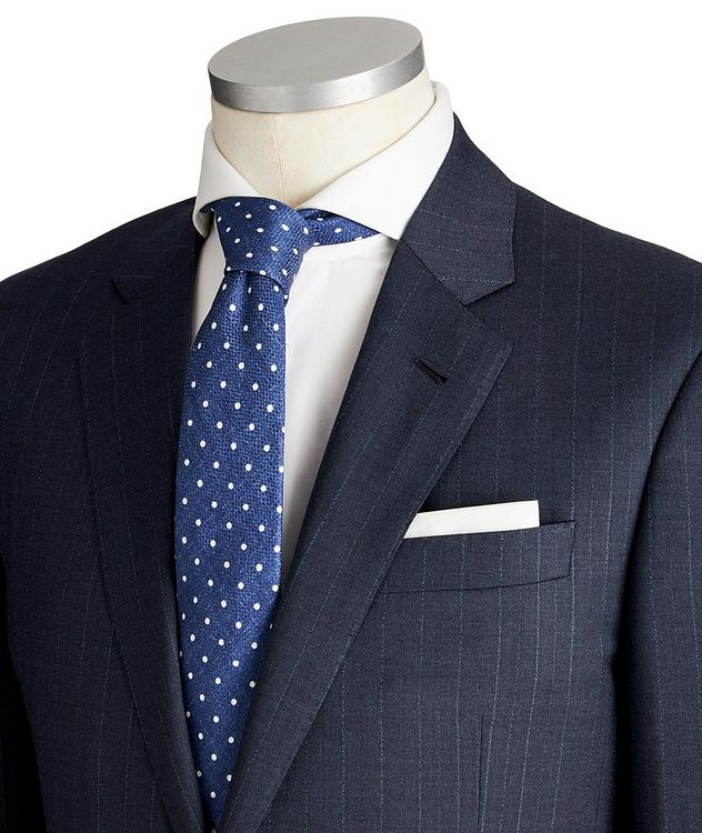 Soft Pinstriped Virgin Wool Suit picture 2