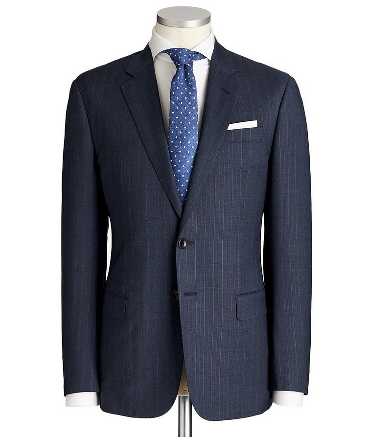 Soft Pinstriped Virgin Wool Suit image 0
