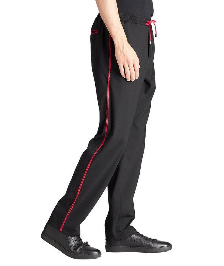 Stretch-Wool Blend Track Pants image 3