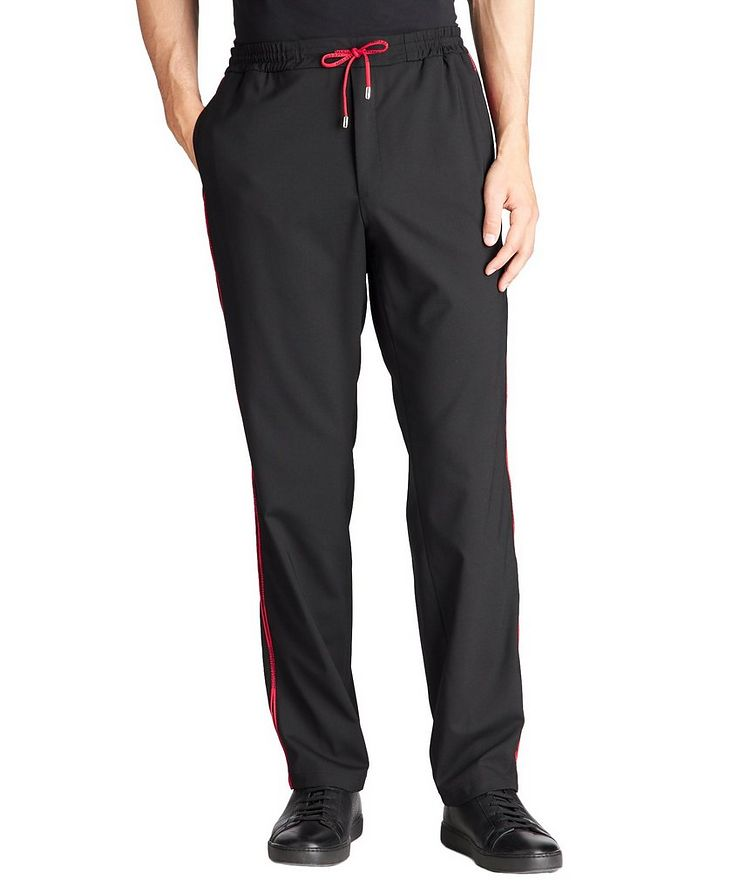Stretch-Wool Blend Track Pants image 0
