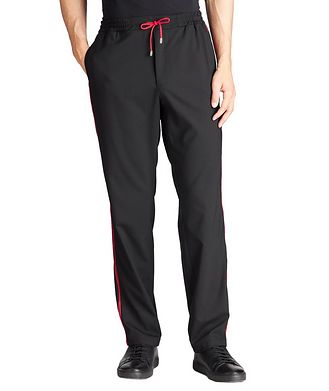 Versace Collection Stretch-Wool Blend Track Pants