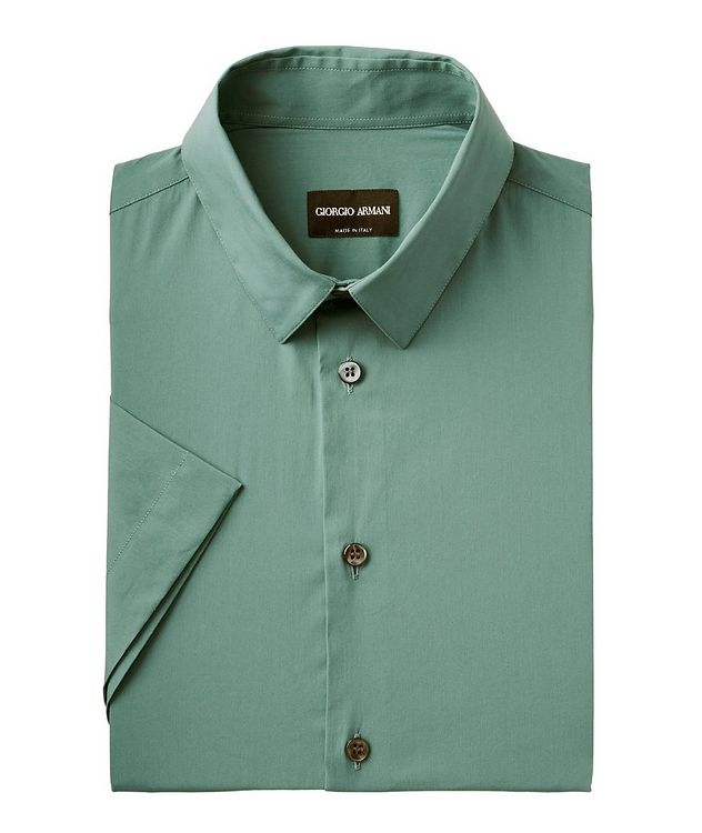 Short-Sleeve Stretch Cotton Shirt picture 1