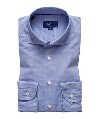 Eton Slim Fit Glen Check Cotton Shirt