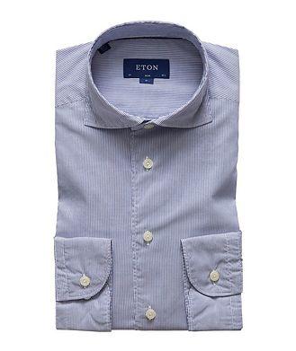 Eton Slim Fit Striped Cotton Shirt